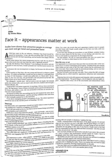 the business times appearance matter at work aci