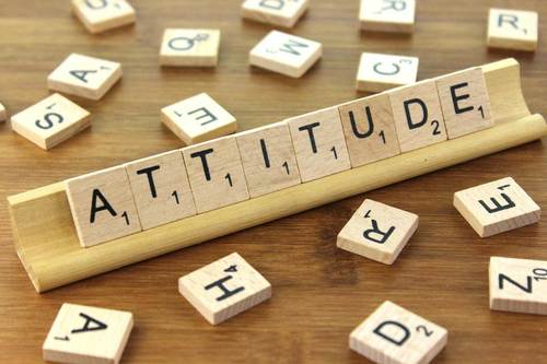 Attitude scrabble pieces