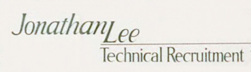 Jonathan Lee Technical Recruitment fist logo in 1978