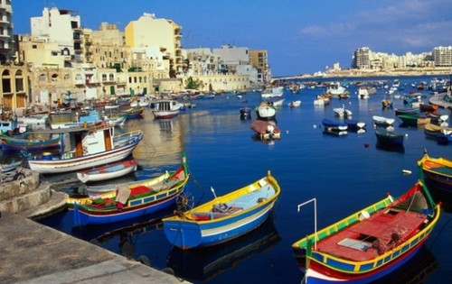 Harbor in Malta - Boats in the River
